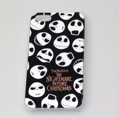 Nightmare Before Christmas JACK IPHONE5 CASE *Free Water Resistant Phone Pouch !