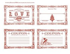Valentine Coupon...You can download these adorable coupons for free. By:creativelylivingblog