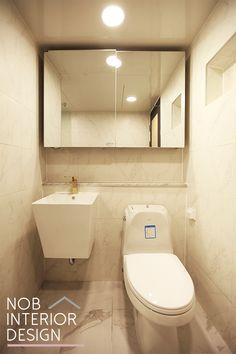 [예쁜 욕실 인테리어] 화사한 50평대 욕실 공간 + 부천 상동 다정한 쌍용예가 아파트 -노브인테리어