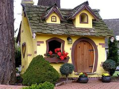 Chemainus, a tiny gingerbread house on  Vancouver Island, Canada.