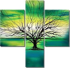 Hand-painted Abstract Oil Painting - Modern Style Tree
