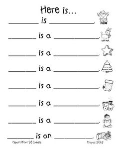 Here is... A Christmas Pocket Chart Activity free