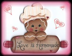 "HP GINGERBREAD ""Love Is Homemade"" ~ stonehouse28 ebay."