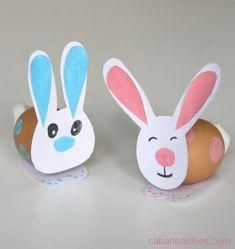 Des lapins à partir d'oeufs - spécial Pâques - La cabane à idées