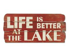Just found this Wooden Wall Art - Life is Better At The Lake Sign -- Orvis on Orvis.com!
