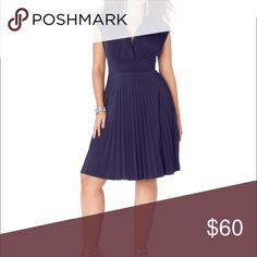 Cap-sleeve Pleated Dress 👀 NOT part of blowout👀 New without tags!! ❤️Bought at Nordstrom. banded empire waist lends a sleeker silhouette to Soprano's cap-sleeve plus size dress, featuring a pleated skirt. Surplice neckline. Cap sleeves. Banded empire waist. Pleated skirt. Pullover style; no closures. Hits at knee; approximate length from center back neckline: 40 inches. Fabric Content: Polyester/spandex. Country Of Origin: Made in USA.Product Care: Hand wash. Deep blue. Stretchy…