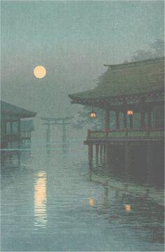 """Yuhan Ito  """"Misty Moon at Miyajima"""""""