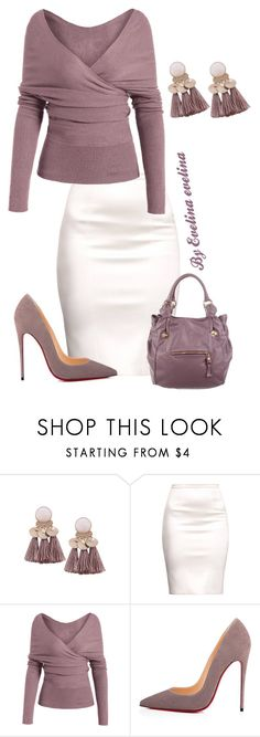 """""""EVE"""" by evelina-er ❤ liked on Polyvore featuring Christian Louboutin and Marc Jacobs"""