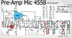 Mic Pre Amplifier using IC 4558