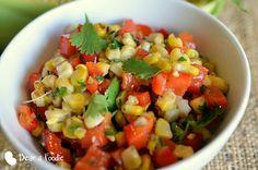 Summertime Charred Corn Salsa by dietetic intern Maria Tadic