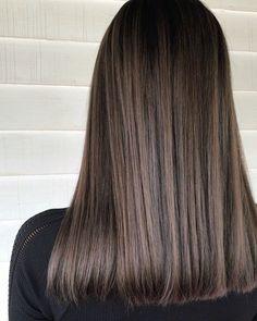 Balayage Straight, Brown Hair Balayage, Brown Blonde Hair, Hair Color Balayage, Asian Brown Hair, Medium Hair Cuts, Medium Hair Styles, Curly Hair Styles, Medium Brown Hair
