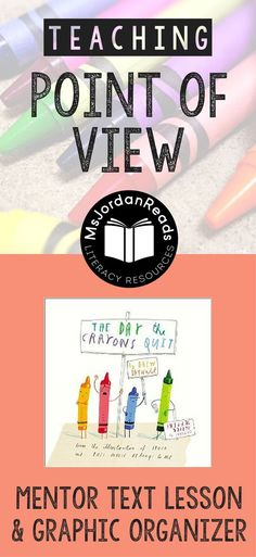 Exploring Perspective and Point of View | A blog post from @MsJordanReads sharing a lesson & free resources to go along with The Day the Crayons Quit