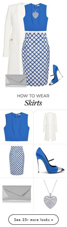 """outfit 3620"" by natalyag on Polyvore featuring Thierry Mugler, Alice + Olivia, Casadei, Jonathan Saunders and L.K.Bennett"