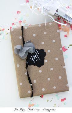 Easy Chalkboard Gift Wrap Ideas | TheCelebrationShoppe.com