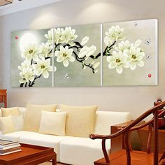 Green-orchid-beautiful-sun-font-b-sets-b-font-triple-painting-decorative-painting-the-living-room.jpg (921×921)