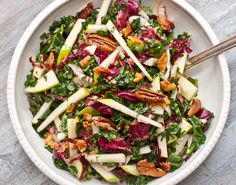 Kale, Apple and Pancetta Salad | Community Post: 23 Delicious Salads To Get You Through Winter