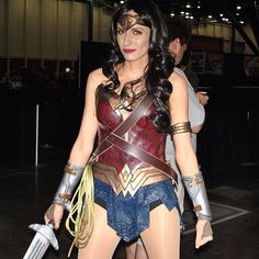 Just over a week ago, I shared photos of Morgan's (also known as Methyl Ethyl Cosplay) new Wonder Woman costume. She designed it based on photos of Gal Gadot's costume in the upcoming B…