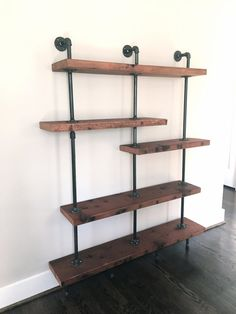 "The ""Addison"" Bookshelf - Reclaimed Wood Shelving Unit - Reclaimed Wood & Pipe Shelf"