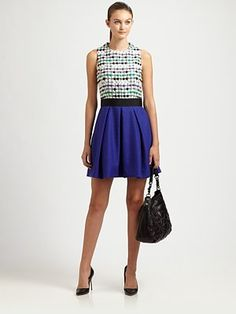 Milly - Lucia Combo Dress - Saks.com