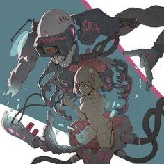 experience by Ching Yeh Fantasy Character Design, Character Design Inspiration, Character Concept, Character Art, Art Et Illustration, Illustrations, Cyberpunk Kunst, Cyberpunk 2077, Arte Robot