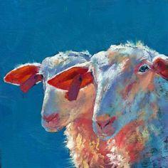 Ewe Two by Brenda Ferguson, painting by artist Brenda Ferguson
