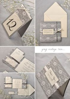 grey-vintage-lace-wedding-invitation-suite