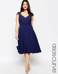 ASOS CURVE Kate Lace Midi Dress - Option for Elizabeth