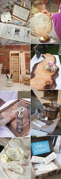 Ideas for diy wedding guest book ideas sweets Wedding Guest Looks, Rustic Wedding Guest Book, Wedding Table, Wedding Book, Guest Book Ideas For Wedding, Wedding Guestbook Table, Trendy Wedding, Diy Wedding, Wedding Events