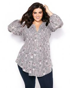 Shop Penningtons for stylish plus size clothes & trendy fashions: sizes 14 to 32 in tops, bottoms, jeans, lingerie, activewear & wide width shoes & boots. Plus Size Peplum, Plus Size Blouses, Plus Size Tops, Plus Size Dresses, Plus Size Outfits, Plus Size Clothing Stores, Plus Size Womens Clothing, Plus Size Fashion For Summer, Plus Zise