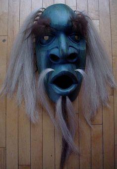 Shaman mask blue.