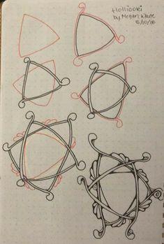 Zentangle Patterns, Zentangles, Drawing Prompt, Zen Doodle, Tangled, Grid, Doodles, Tutorials, Journal