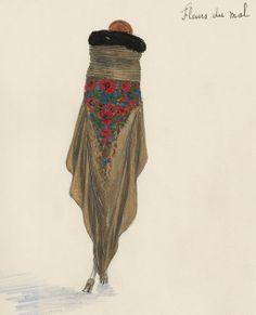 """¤ Printemps 1921. Jean Patou """"Fleurs du mal"""""""