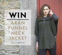 Win a beautiful Aran Funnel Neck Jacket worth $194.95 from Aran Sweaters Direct #competition #giveaway