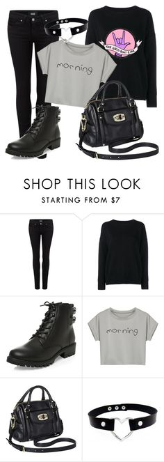 """Untitled #62"" by cabrachica on Polyvore featuring Paige Denim, Frame Denim, New Look, WithChic and Merona"