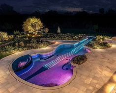 swimming pool shaped as a stradivarius violin awesome