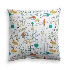 Try our ENDLESS SCIENCE throw pillow. Being a geek never felt so good with our... Power Nap, E Mc2, Decorative Throw Pillows, Tatting, Pillow Covers, Finding Yourself, Geek Stuff, Science Chemistry, Shapes