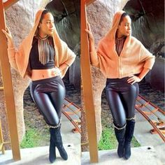 lady has mad style Super Powers, Street Fashion, Mad, Leather Pants, African, Street Style, Queen, Outfits, Clothes