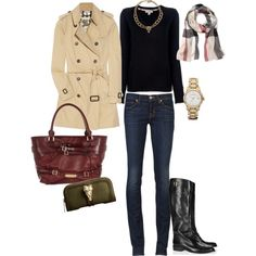 """My Burberry Obsession"" by angela-reiss on Polyvore"