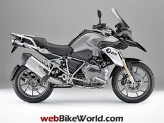 2013 BMW R1200GS Silver Right Side