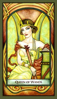 December 10 Tarot Card: Queen of Wands (Fenestra deck) You're gifted with the powers of compassion, attention, and accomplishment now to bring greater balance and contentment to your life Tarot Significado, Tarot Card Meanings, Tarot Card Decks, Tarot Readers, Oracle Cards, Card Reading, Archetypes, Deck Of Cards, Art Images