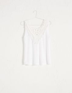 Top BSK aplique crochet - New - Bershka España