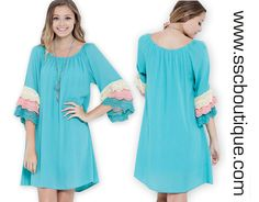 New Arrivals! Fall in love with our Mint Colorblock Lace Dress only $45.50! Wear on or off the shoulders for a versatile look! S,M,L! Click link to order now!  http://www.sscboutique.com/collections/new-arrivals/products/coral-colorblock-lace-dress  #colorblock #lace #offshoulder #spring #dresses