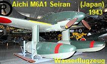 Aichi M6A1 Seiran: japanisches Wasserflugzeug aus der Zeit des Zweiten Weltkriegs Aichi, Pearl Harbor, Japan, Fighter Jets, Helicopters, Catapult, Soviet Union, World War Two, Japanese