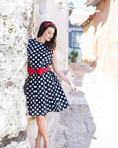 Handmade dress polka dots by Annabelle_moda