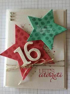 Star Framelit's - Sweet 16 card