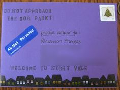 NightVale Mail! I love it. Nightvale quotes on halloween mail would be awesome.