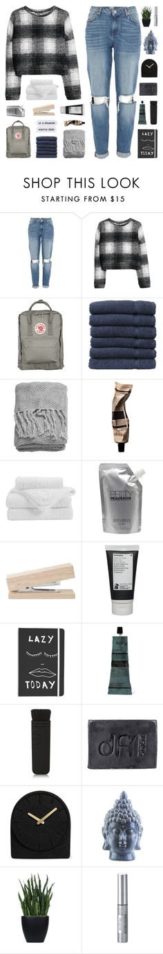"""""""THE FEAR OF FALLING APART"""" by nxstalgia ❤ liked on Polyvore featuring River Island, MANGO, Fjällräven, Linum Home Textiles, H&M, Christy, Prtty Peaushun, Korres, Aesop and NARS Cosmetics"""