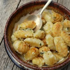 Gnocchi Mac and Cheese -- great for tomorrow night when it's going to be cold and rainy!