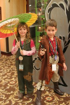 Taken by a P Verrant.  Kids cosplaying as Kaylee and Mal from Firefly!?  These parents are awesome, awesome kids too for running with this.