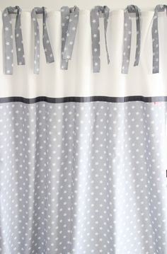 Vorhang, Sterne grau/weiß 135 x 250 cm von maru*maru - Kinder(t)räume auf DaWanda.com